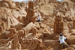Arte en la playa de Pera