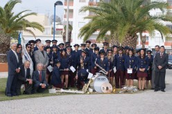 La Banda Filarmónica 1º de Diciembre, en desfile por las calles de Olhao