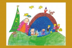 Alumnos de Silves diseñan la postal de Navidad