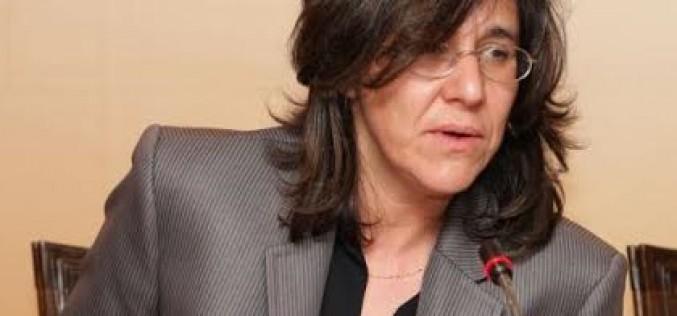 La periodista y escritora Luísa Monteiro, en el Cine-Teatro Louletano