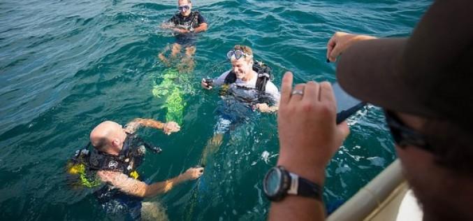 Nadando entre peces en el Algarve