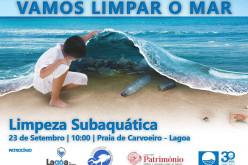 Lagoa limpia sus playas