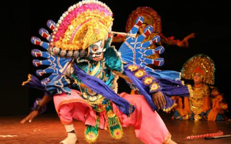 Un espectáculo de danza india, en Albufeira
