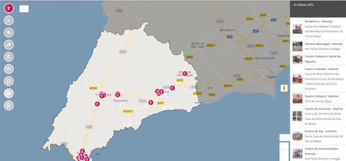 Un mapa interactivo lleva hasta las 'Maias' de Vila do Bispo