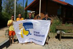 La playa fluvial de Alcoutim ya cuenta con su Bandera de Playa Accesible