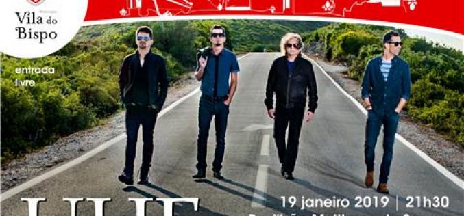 La banda de rock UHF, en concierto en Sagres