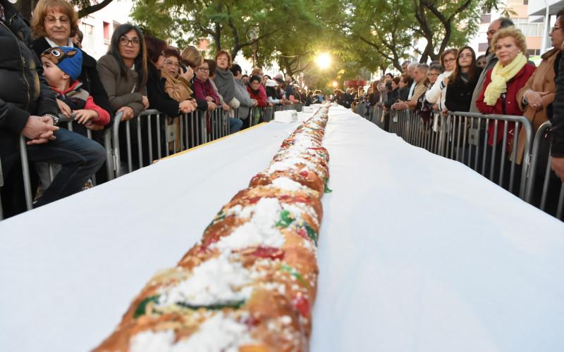 Loulé celebra el Día de Reyes con un Roscón de 150 metros