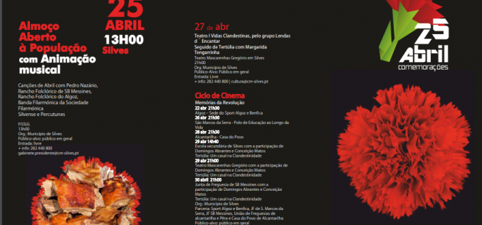 Silves conmemora su 45º aniversario del 25 de abril