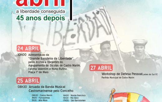 Castro Marim celebra o dia 25 de Abril com a Grande Bandeira da Liberdade