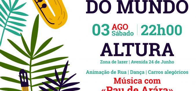 Músicas do Mundo no Carnaval de Verão em Altura