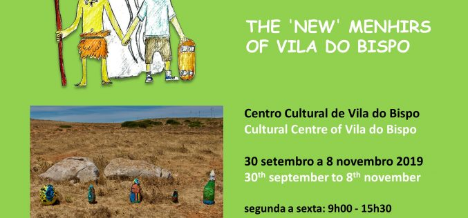 Los nuevos Menires de Vila do Bispo en exhibición en el Centro Cultural