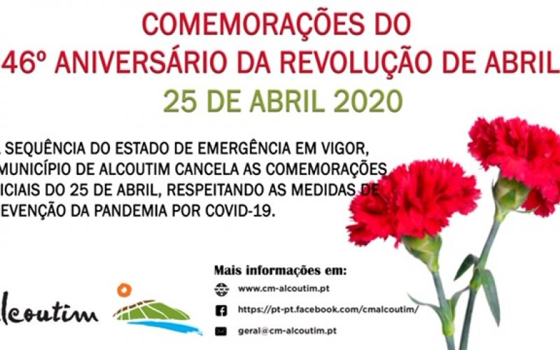 Alcoutim cancela las celebraciones por el 46 aniversario del 25 de abril de 1974