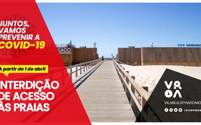 Vila Real de Santo António prohíbe el acceso a las playas
