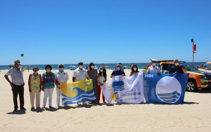 Castro Marim ostenta bandeira azul, praia acessível e qualidade dourada em suas praias