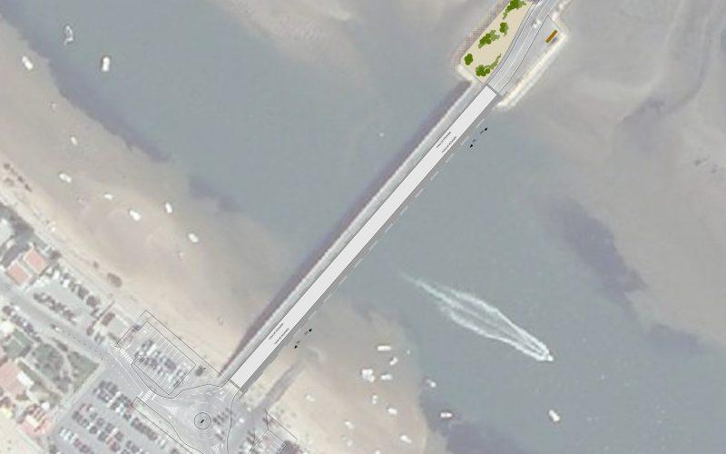 Faro abre la licitación para la construcción del nuevo puente de acceso a la playa