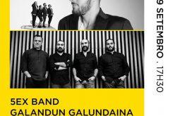 El 7º Festival Internacional de Guitarra de Lagoa continúa Con las actuaciones de «5EX Band» y «Galandun Galundaina»