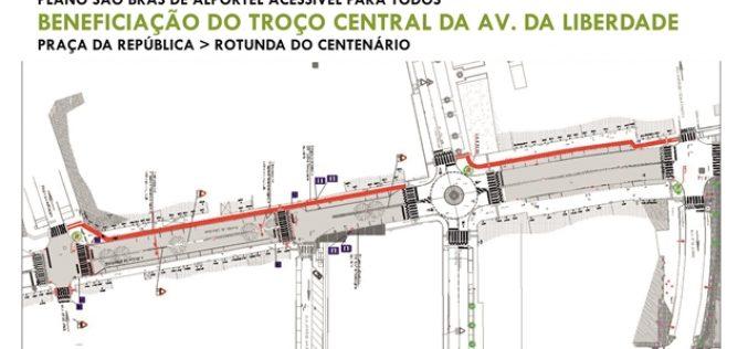 São Brás de Alportel avanza con la recalificación  de la Avenida da Liberdade