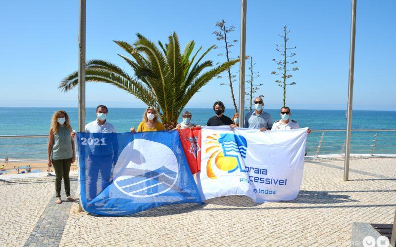 Silves ondeó banderas azules en las playas del municipio